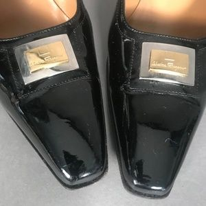 SALVATORE FERRAGAMO Patent Leather Heels 7 1/2